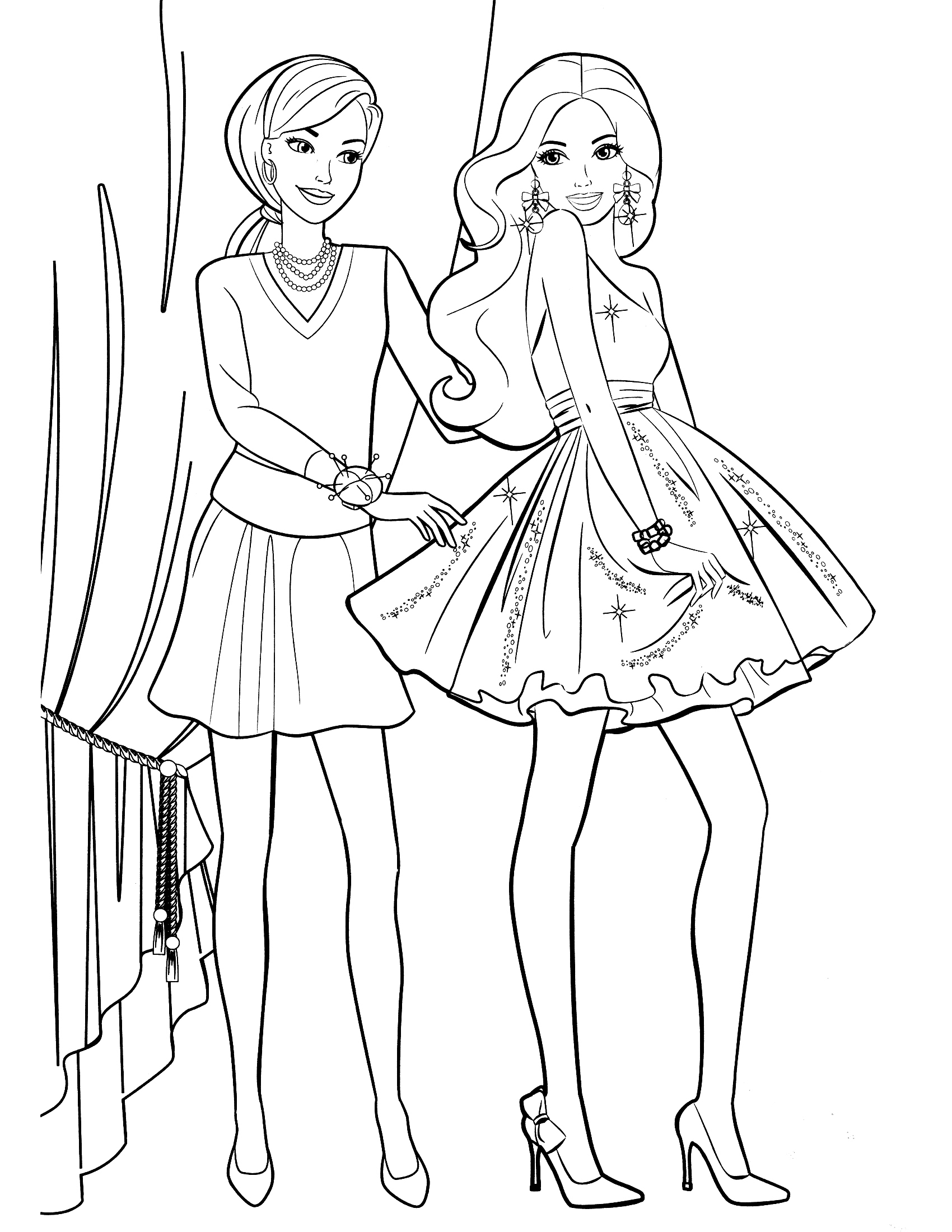barbie girls coloring pages - photo#21