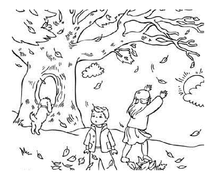 fall coloring page 2019