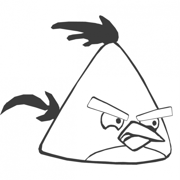 Kleurplaten Angry Birds Race.Angry Birds Coloring Pages Z31