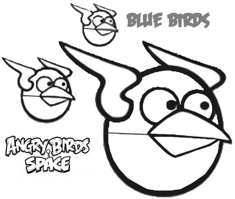 angry birds space coloring pages  Coloring Pages For Kids and All