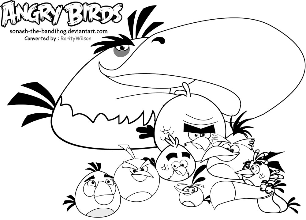 Angry Birds Coloring Pages 2018