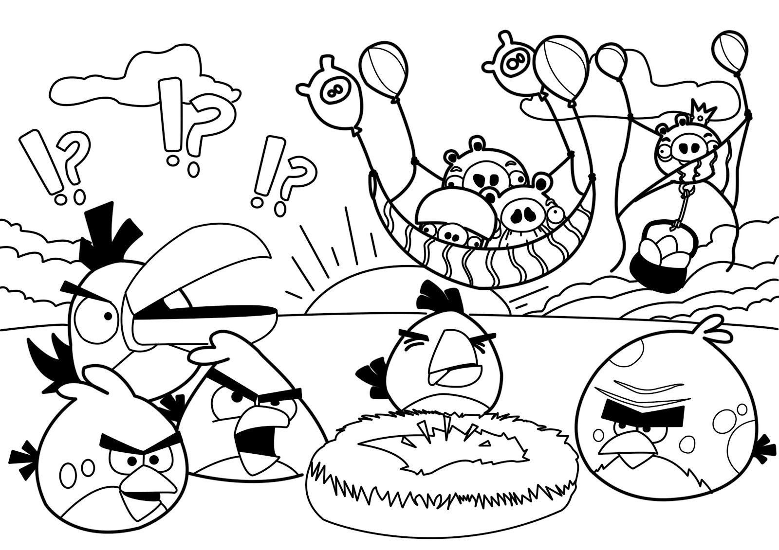 Angry Birds Halloween Kleurplaten.Angry Birds Coloring Pages Z31