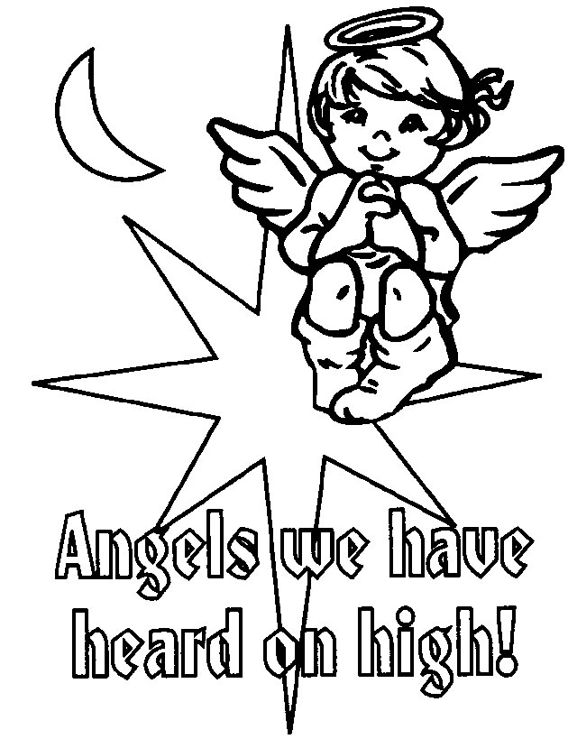 Christmas Angels Coloring Pages To Print - Coloring Home | 819x630