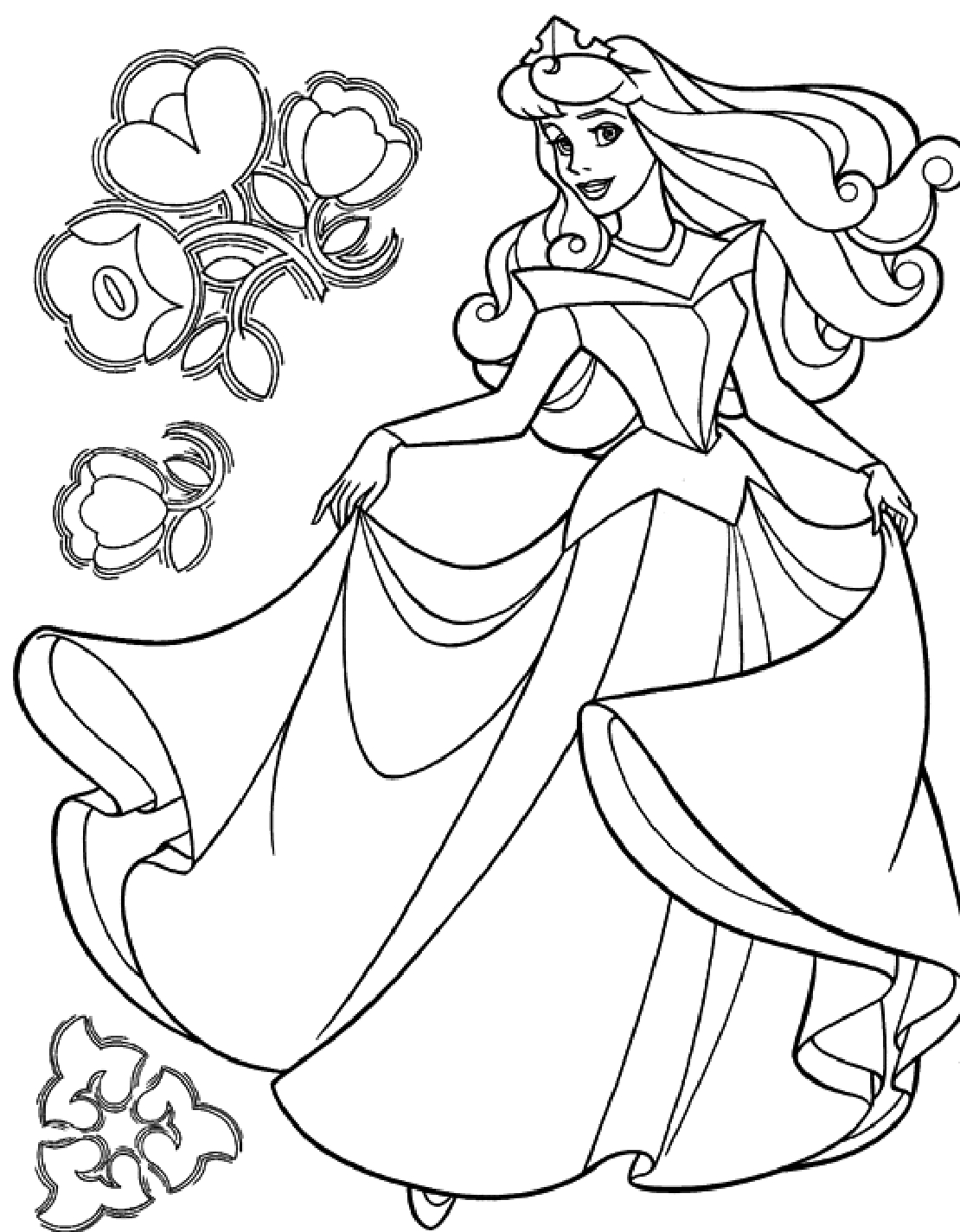 coloring pages of cinderella - photo#28