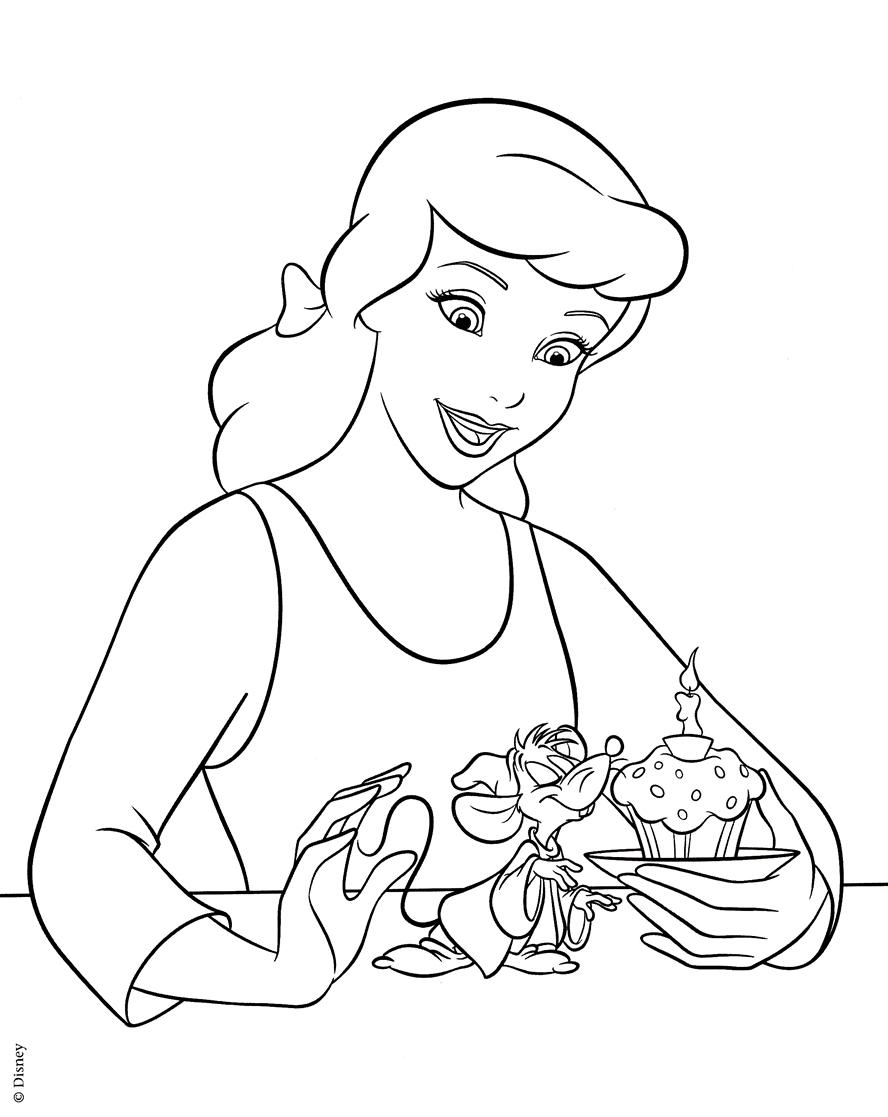 Cinderella Coloring Pages - Z31
