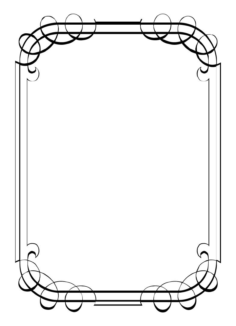 clip art borders z31 coloring page