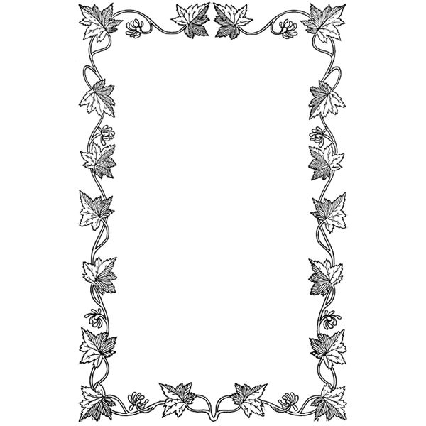 Clip Art Borders - Z31 Coloring Page