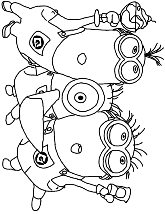 Dispicable me free colouring pages for Despicable me coloring pages printable