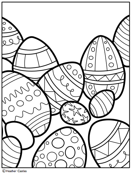 Easter Egg Coloring Pages 2017 Z31 Page
