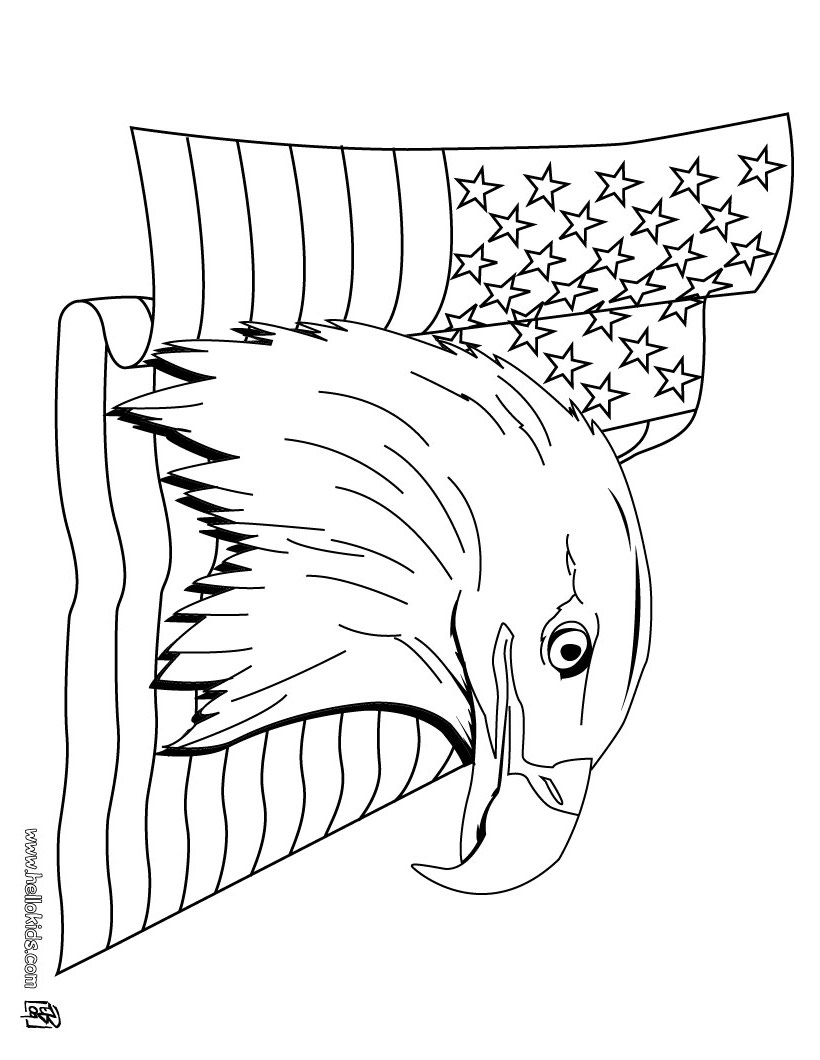 coloring pages for flag day - photo#29