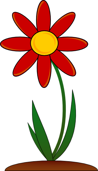 flower clip art color - photo #10