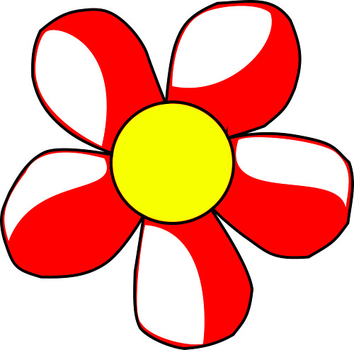 flower clip art color - photo #48