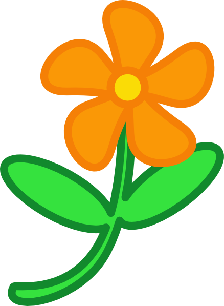 flower clip art color - photo #20