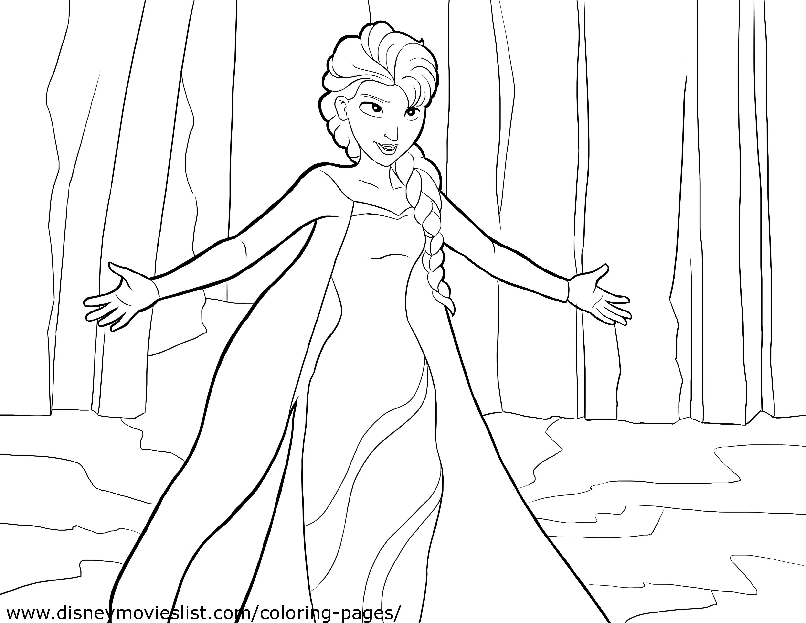 Frozen Coloring Pages 2018- Z31 Coloring Page