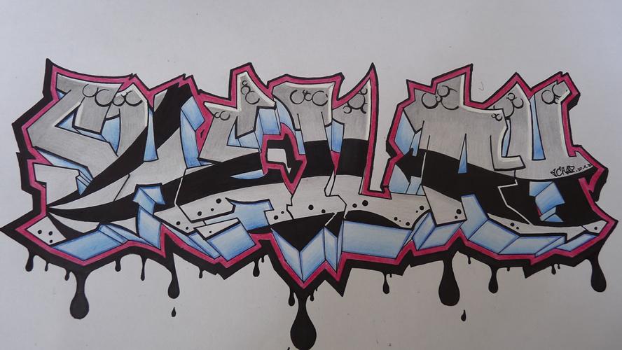 Graffiti Drawings 2018 Z31 Coloring