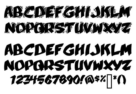 Graffiti Font Styles Numbers Traffic Club