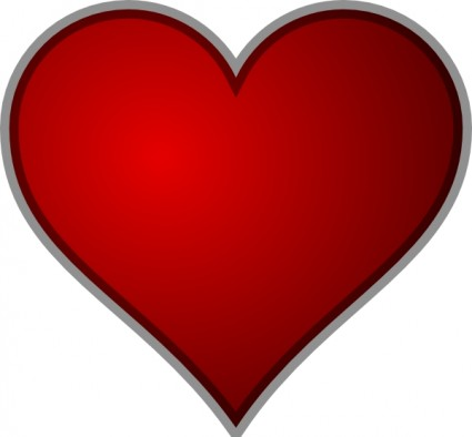 heart clip art   z31 coloring page