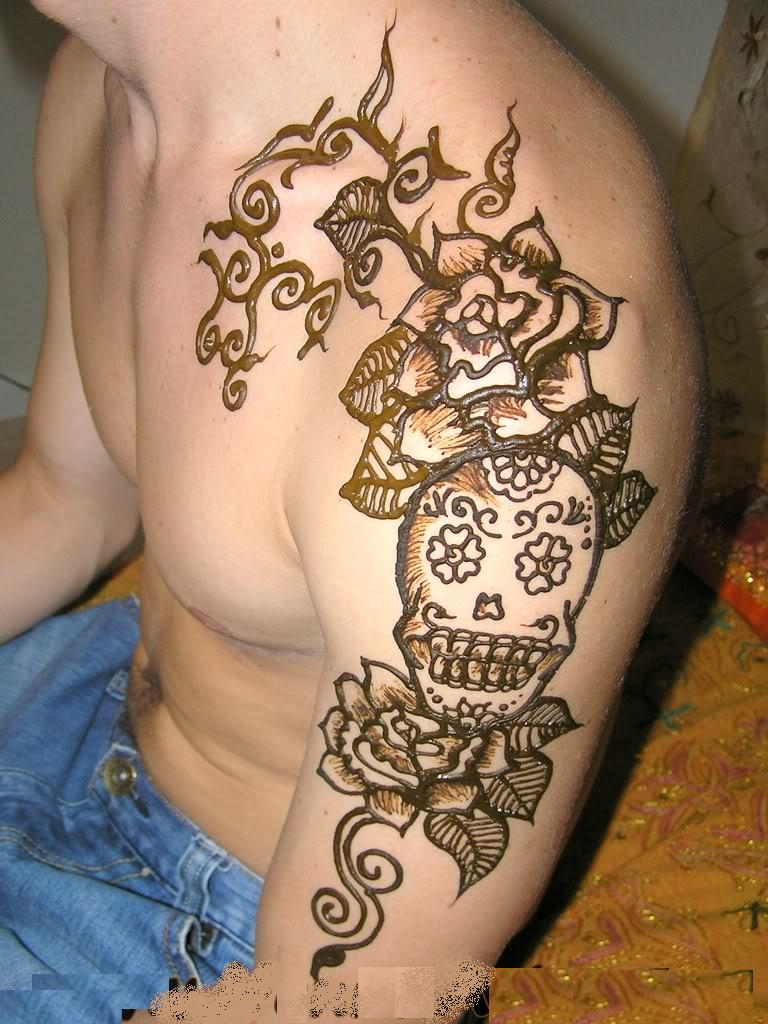 Henna Tattoo Colors : Henna tattoo z coloring page