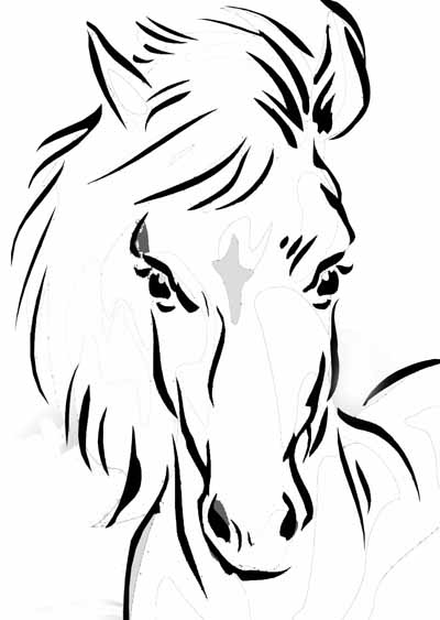 Horse coloring pages z31 coloring page for Immagini di cavalli da disegnare