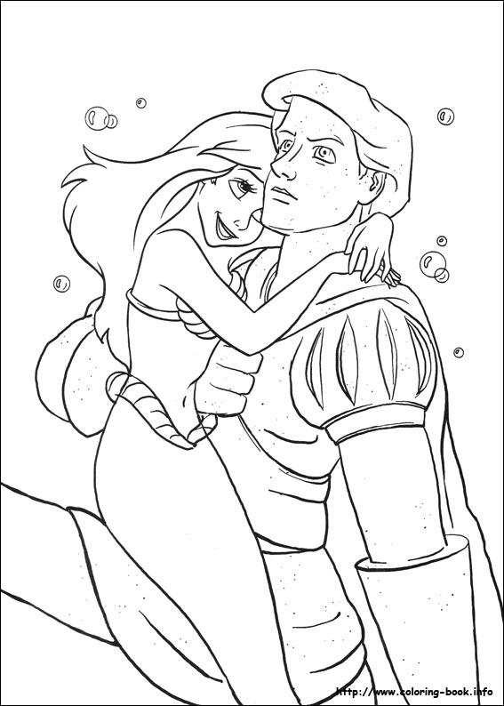 coloring book pages little mermaid - photo#30