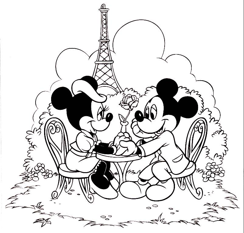 Disney Coloring Pages Mickey And Minnie Mouse : Minnie mouse coloring pages z page