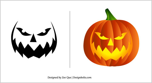 Pumpkin carving patterns z coloring page