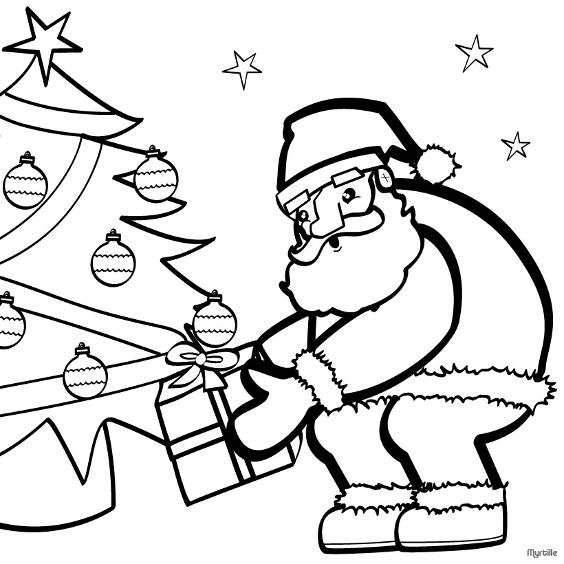 santa coloring pages 2018 z31 coloring page - Santa Coloring Pages