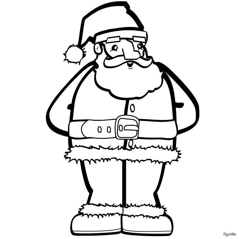 Santa Coloring Pages 2018 Z31 Coloring Page