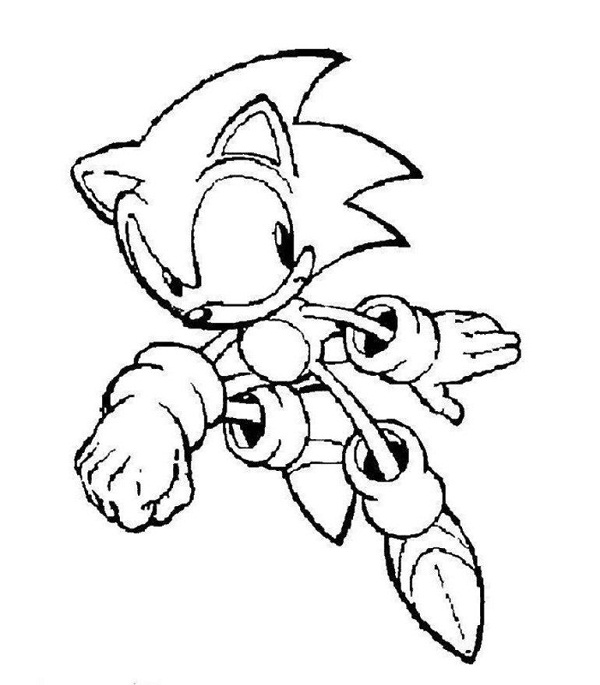 sonic christmas coloring pages - photo#4