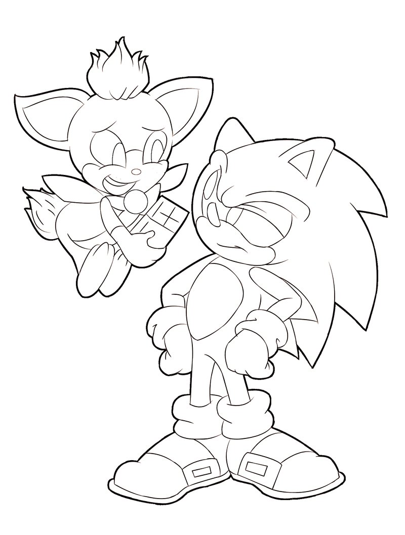 sonic christmas coloring pages - photo#31