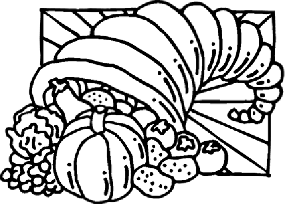 Thanksgiving Color Pages for Kids - Z31 Coloring Page