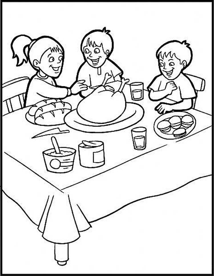 Thanksgiving Color Pages For Kids