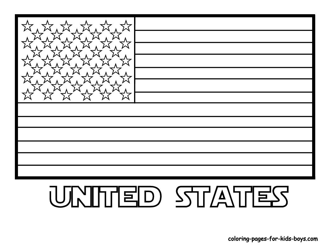 American flag coloring pages 2018