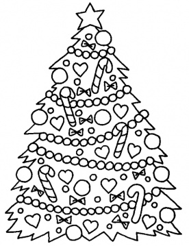 Christmas Tree Coloring Sheets 2017- Z31 Coloring Page