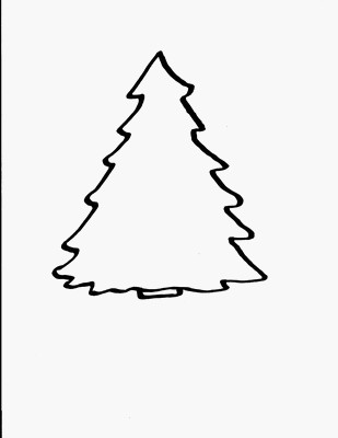 Christmas Tree Coloring Pages Z31