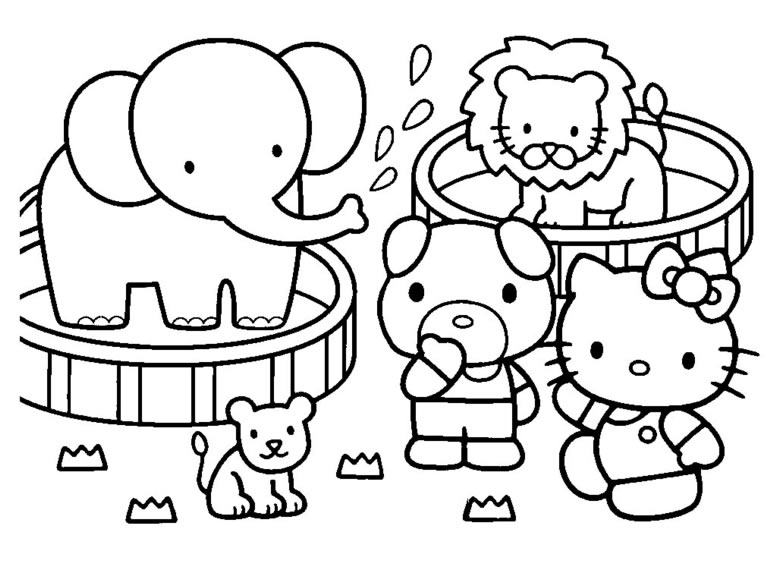 Coloring Pages Hello Kitty Z31