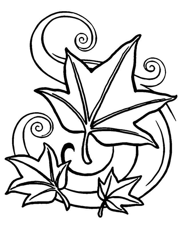crayola coloring pages autumn leaves gallery - Fall Coloring Pages Printable