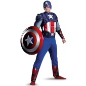 The Avengers Captain America Muscle Plus Adult Costume