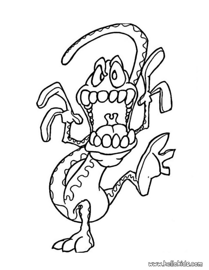 Monster Coloring Pages 2018- Z31 Coloring Page