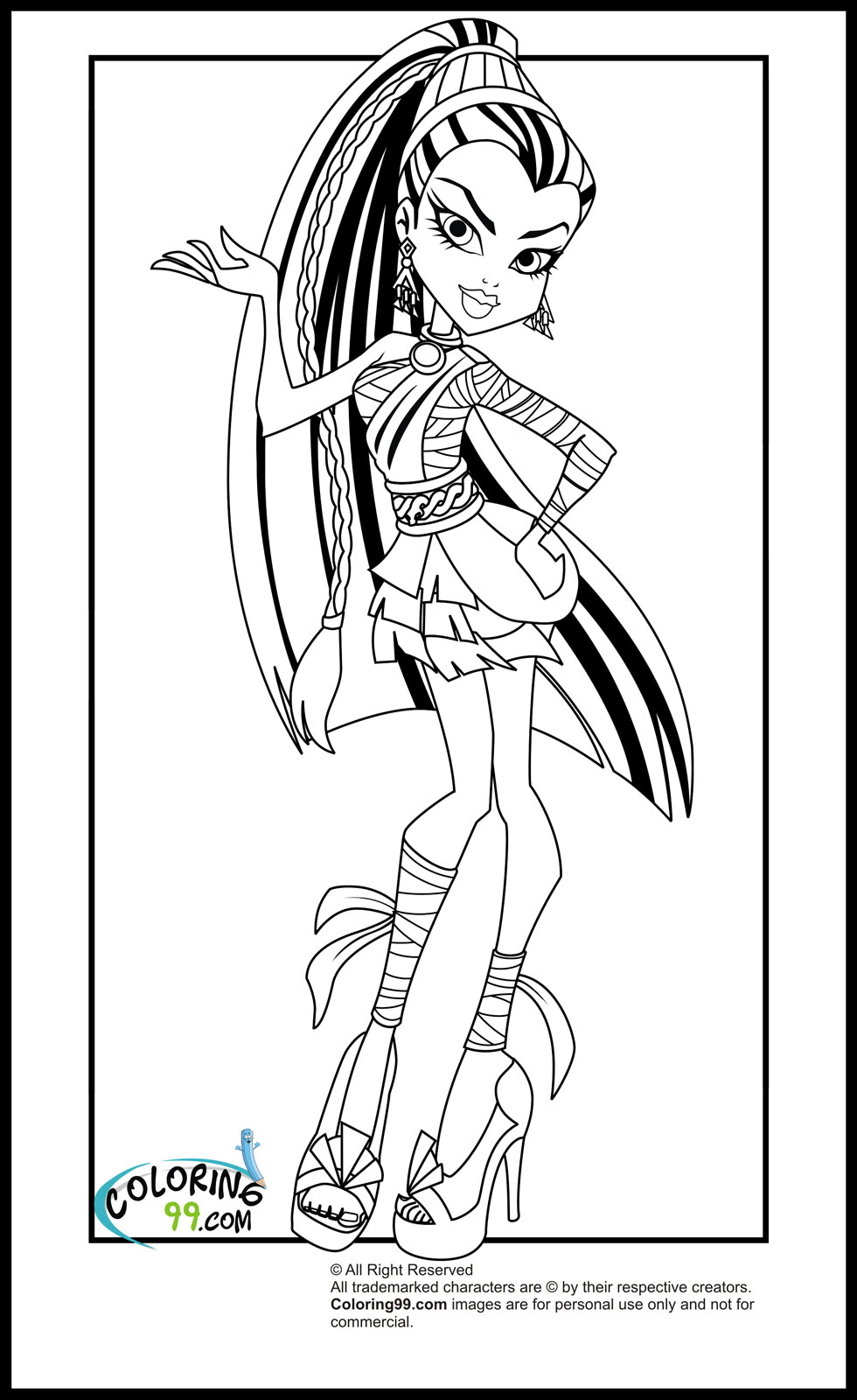 Monster High Coloring Pages 2018- Z31 Coloring Page