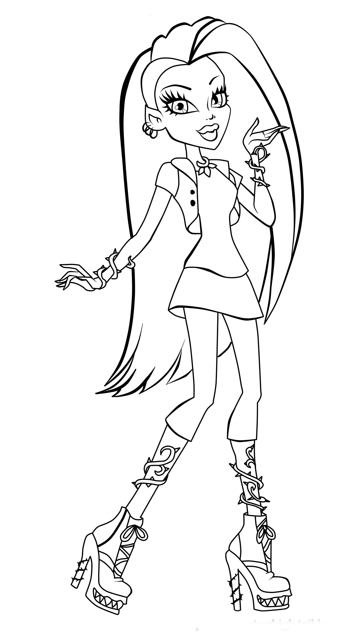 Monster high coloring pages 2018 z31 coloring page for Monster high printables coloring pages