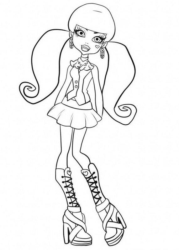 monster high coloring pages 2018 z31 coloring page