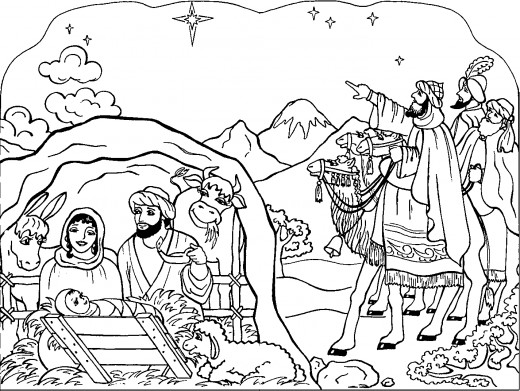 Nativity Coloring Pages 2017- Z31 Coloring Page