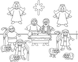 Nativity Coloring Pages 2018- Z31 Coloring Page