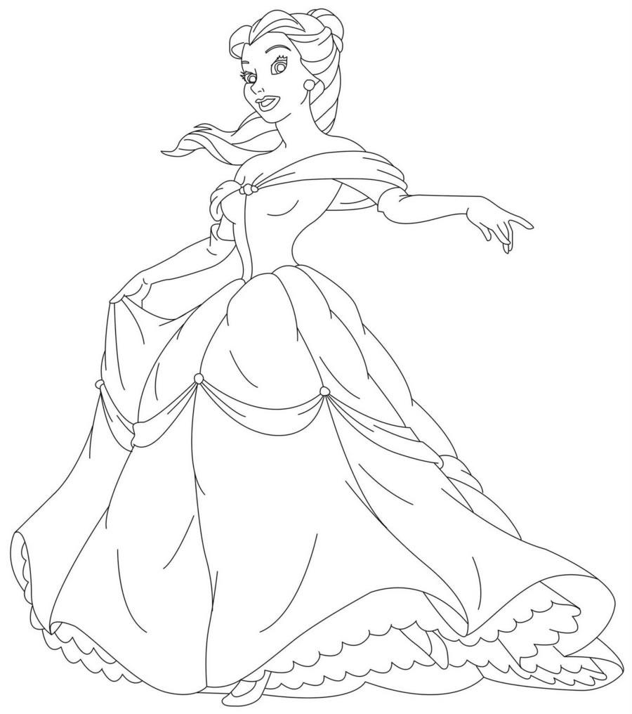 princess coloring page4