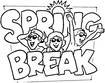 Coloring pages for spring break