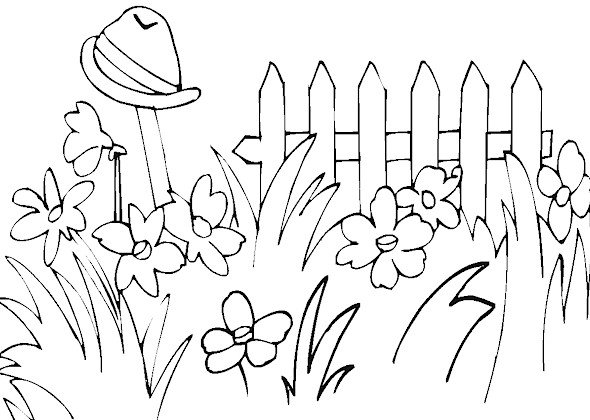 Spring Coloring Pages 2018- Z31 Coloring Page
