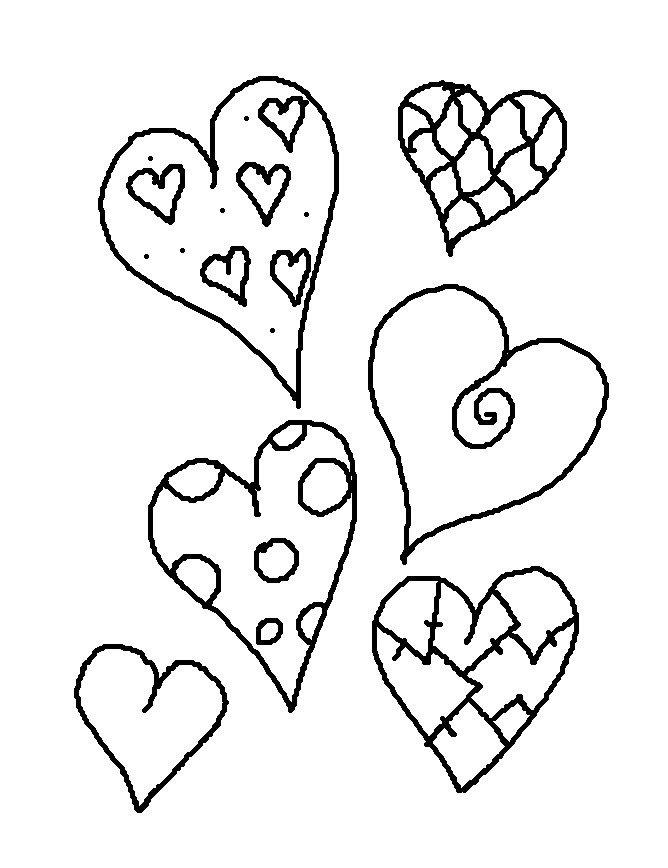 Small Valentine Coloring Pages