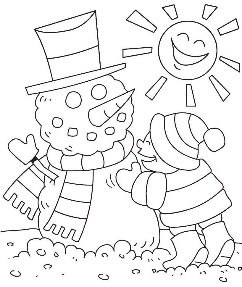 Winter Coloring Pages - GetColoringPages.com   970x818